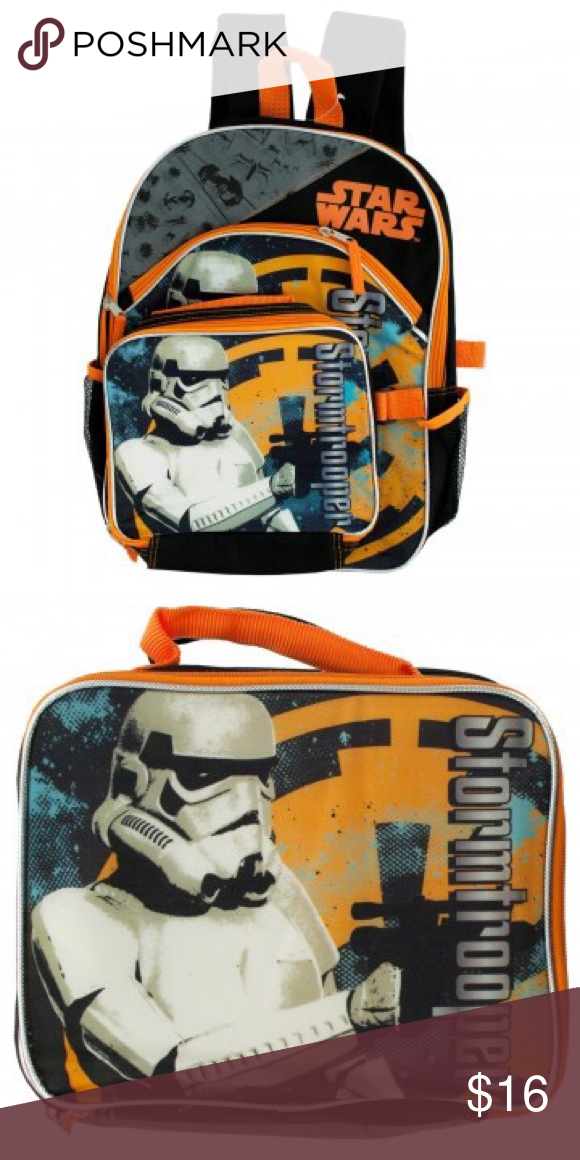 842a583cb6 Kids Star Wars Backpack  amp  Detachable Lunch Tote Disney Stormtrooper  Edition! Perfect for