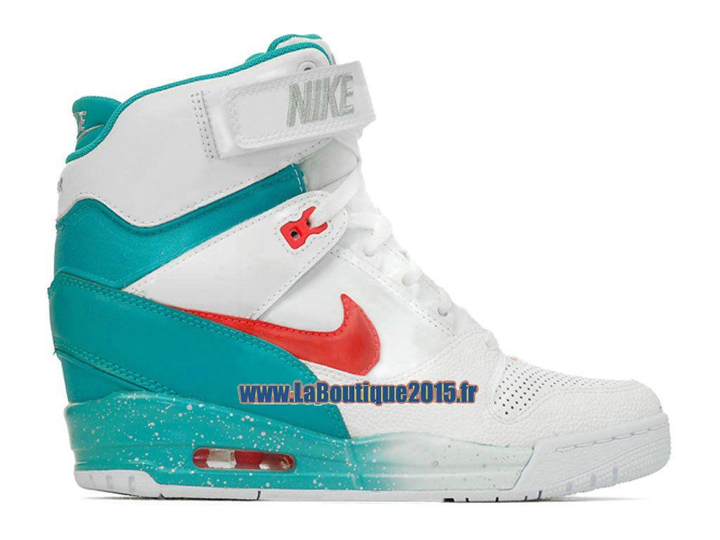 meet eaf0b ee99c Nike Air Revolution Sky Hi GS Chaussure Montante Nike Pas Cher Pour Femme  Blanc Gris loup Morelle noire Cramoisi laser 599410-101