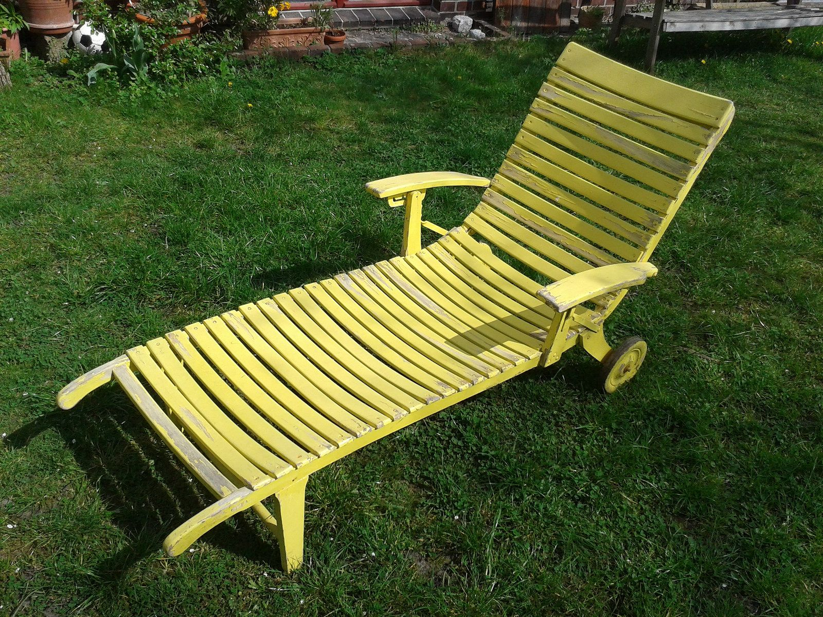 Relaxstuhl Holz Deckchair Holz Cool Deckchair Classico Without Armrest