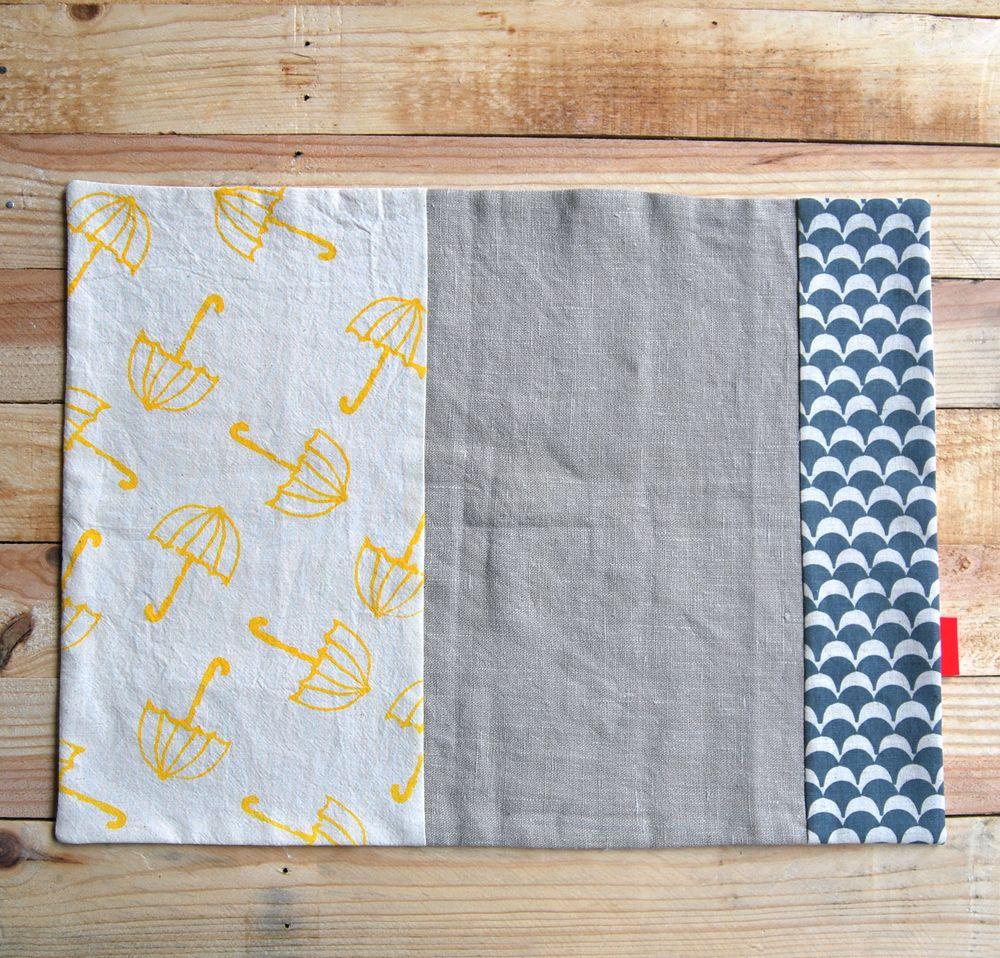 Set de 2 manteles individuales tela 100 algod n y lino - Manteles de lino ...