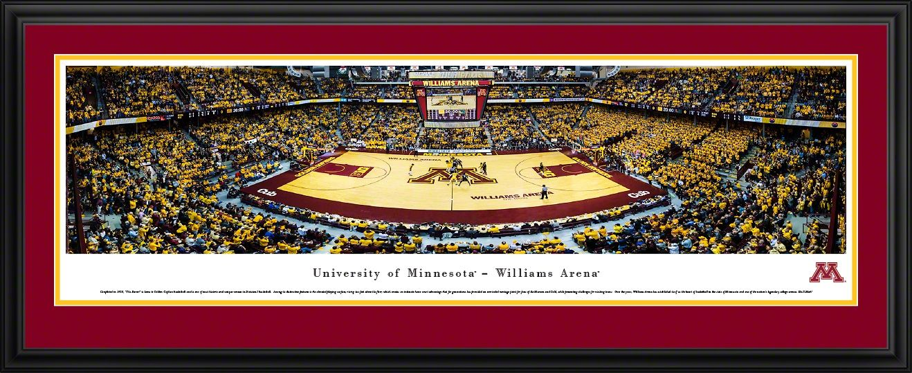 Minnesota Golden Gophers Basketball Panorama Williams Arena Panoramic Print Gifts For Sports Fans Gopher Basketball