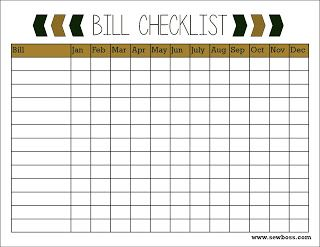 Sew Boss Bill Checklist Free Printable  CleaningOrganizing