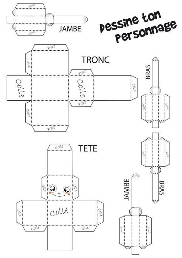 Comment fabriquer des papertoys ? - PaperToy à colorier (facile