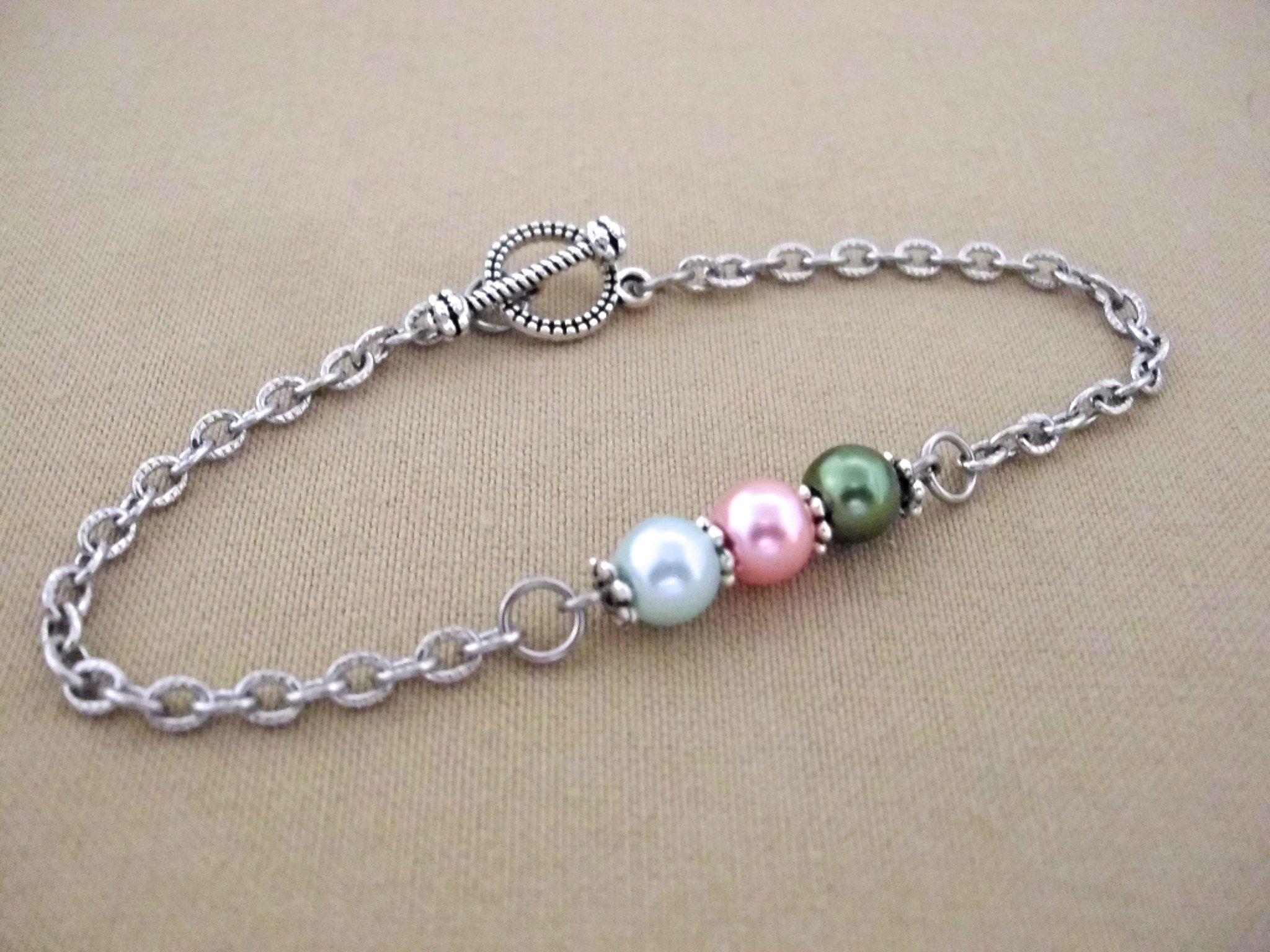 Gift For Mom Grandma Pearl Bracelet