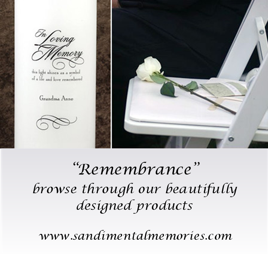 """Remember your loved ones at your wedding with our """"Remembrance Collection"""""""