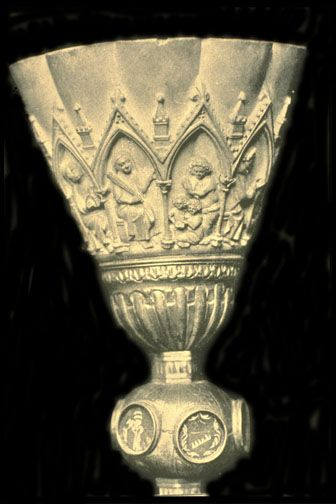 Carved ivory chalice  14 th. century  Milan Cathedral Treasury