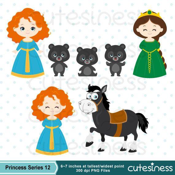 Princess Digital Clipart Princess Clipart Brave Clipart Etsy In 2020 Digital Clip Art Clip Art Brave Cartoon