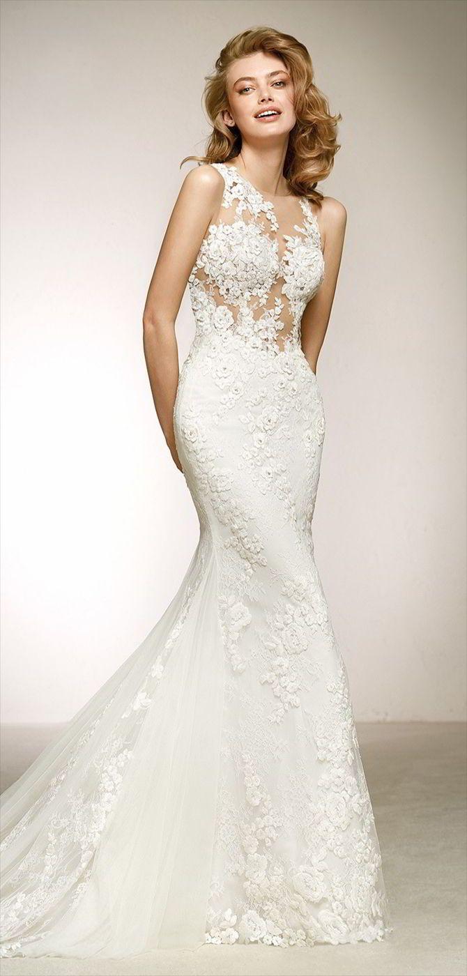 Pronovias wedding dresses mermaid skirt wedding dress and