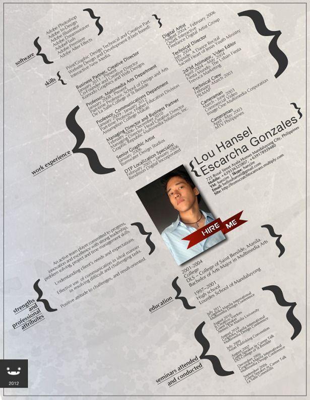 39 Fantastically Creative Resume And Cv Examples Vandelay Design Resume Design Creative Resume Design Inspiration Creative Resume