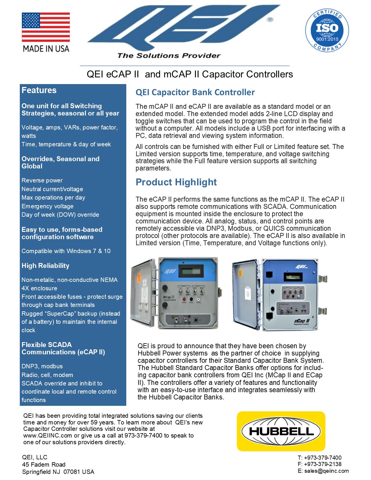 Qei Capacitor Controller Capacitors System Mcap