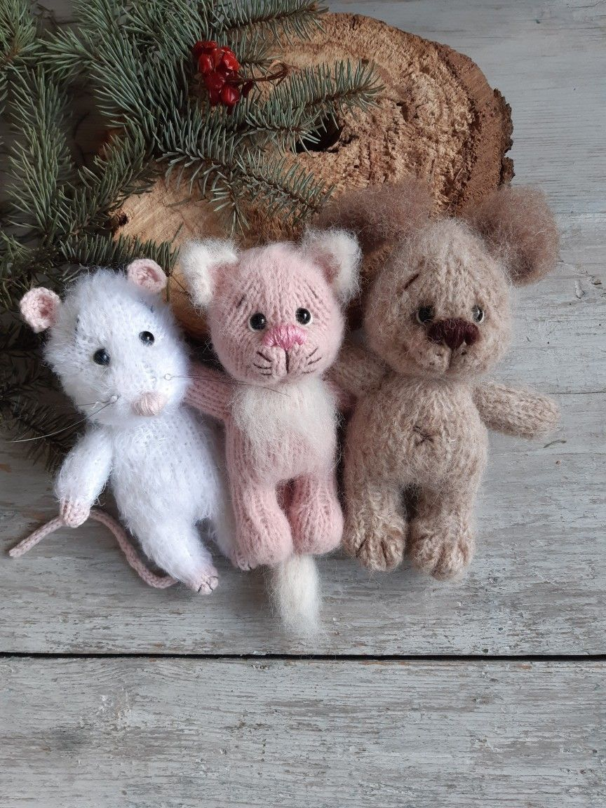Pink cat/gift toy/soft toy/Cute cat toys/toy knitted/Doll