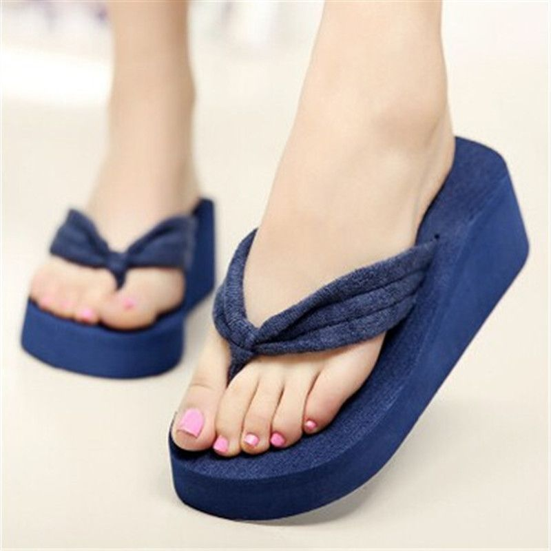 17d38aeac9400a SIZE 42 Women Flip Flops Wedges Platform Slippers Beach Thick Heel Sandals  Wedge Slippers Wedges Slides Women Summer Shoes  StickersGalaxy