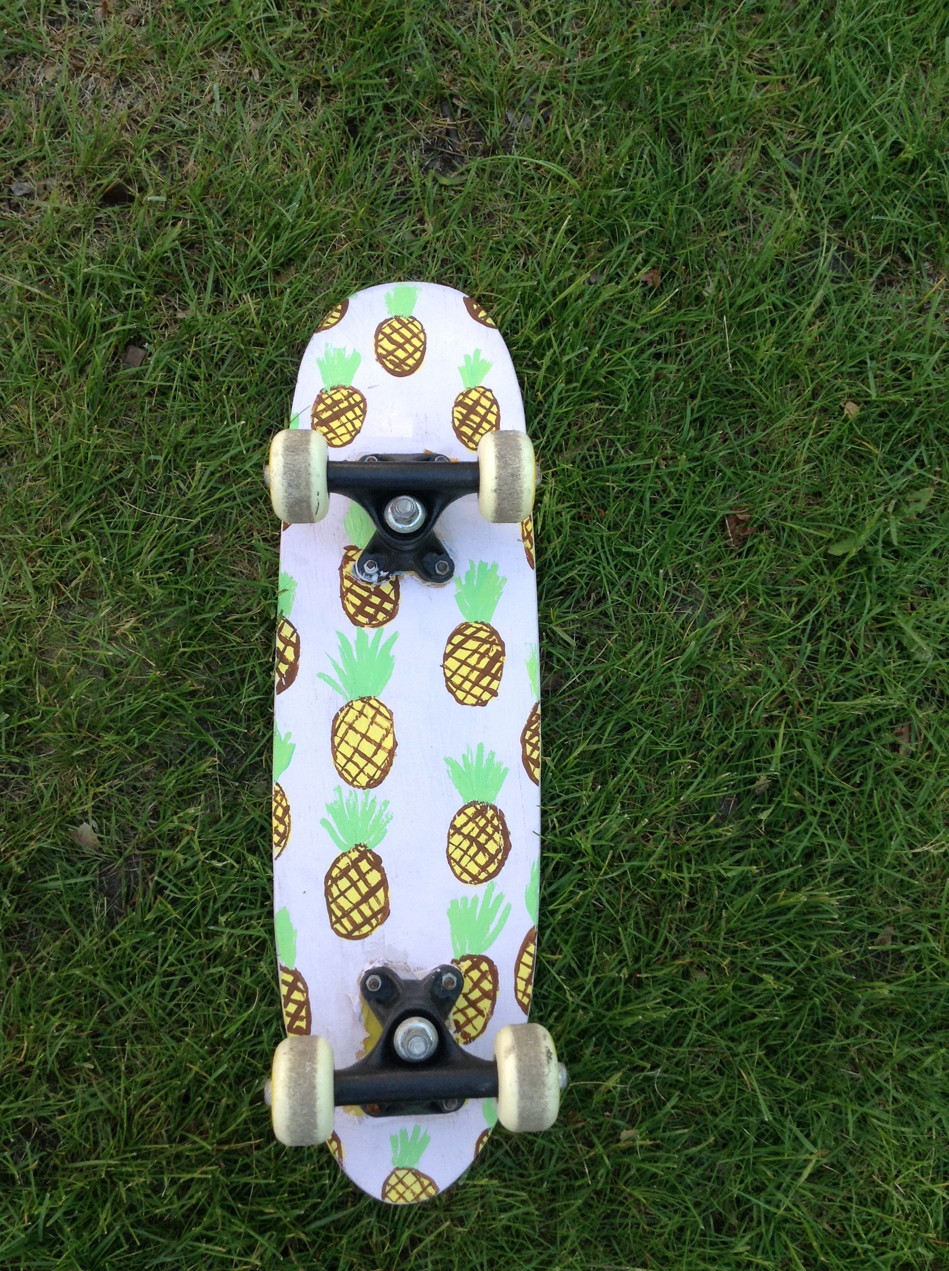 I painted the bottom of an old penny board and got this i