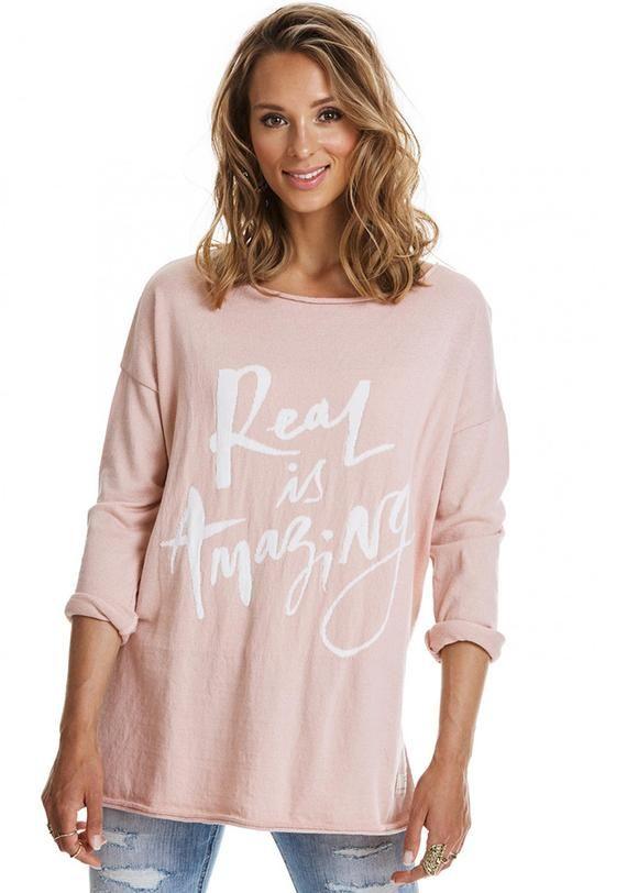 Odd Molly Rosa Sweater 217M-209 Sizzling Sweater - warm powder