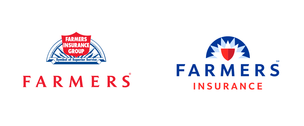 Farmers Insurance Logo Evolution An American Insurance Company An Alarm Safety Look Farmers Insurance Logos Farmer
