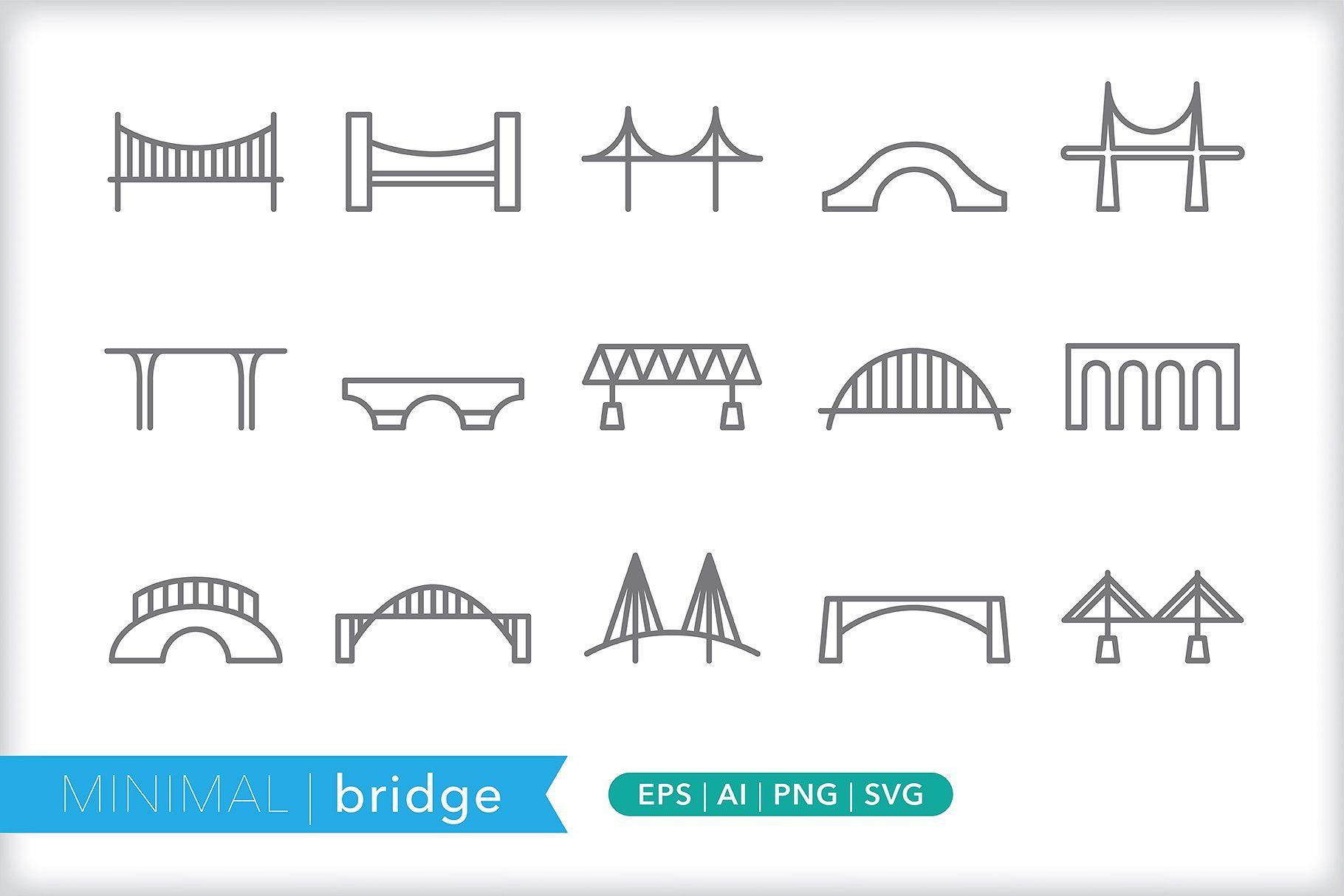 Minimal Bridge Icons Bridge Icon Bridge Logo Icon