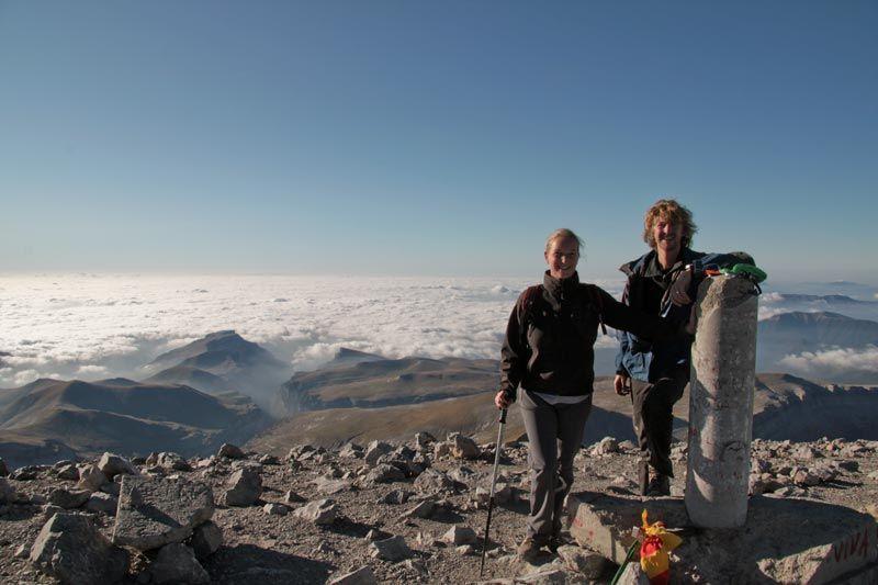 Beklimming Monte Perdido, trekking spaanse pyreneeen