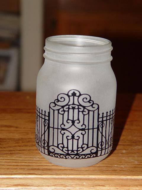 Candle holder sandblasted