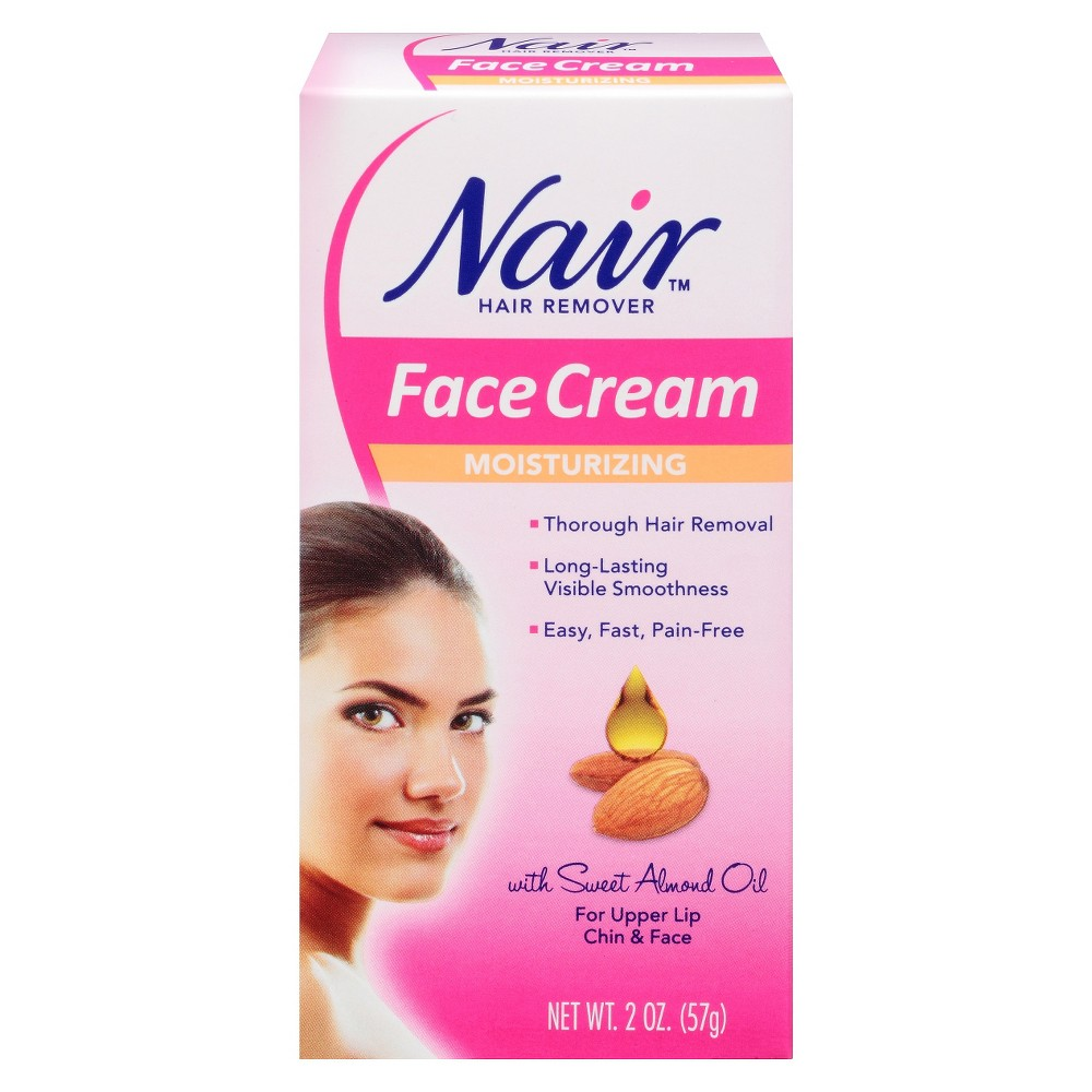 Nair Facial Hair Remover Cream 2.0 oz #HomeyAndGreenTeaMask