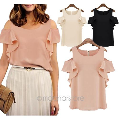 Dream Closet: Off-Shoulder Loose Chiffon Shirt
