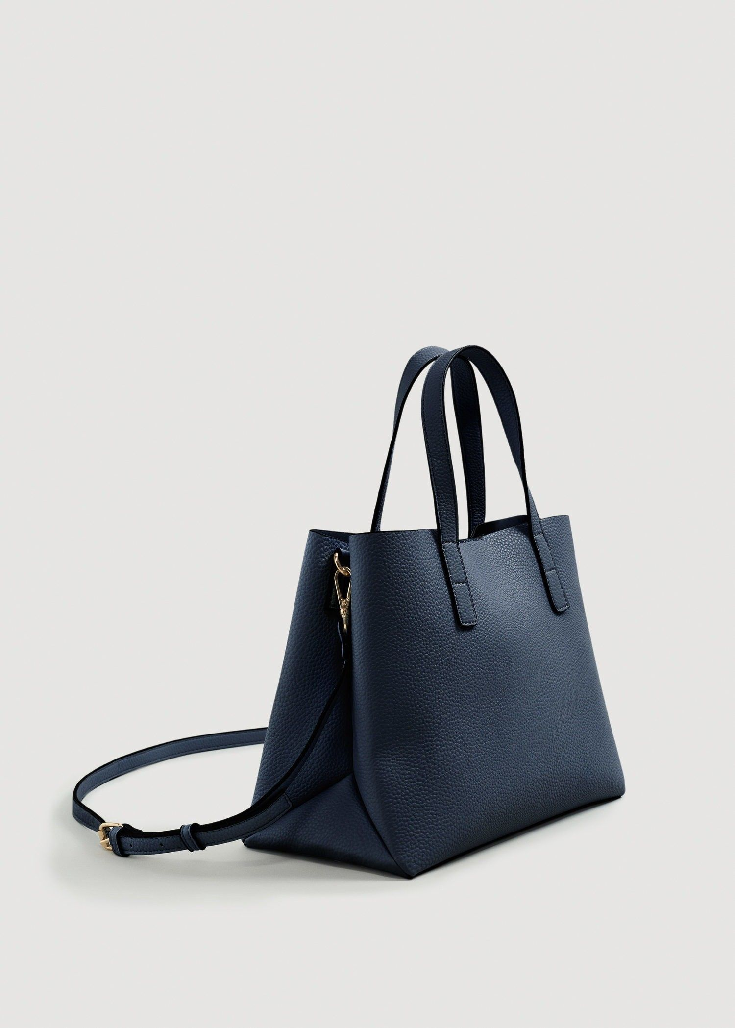 90c45c890264a Mango Pebbled Tote Bag - Navy One Size in 2019
