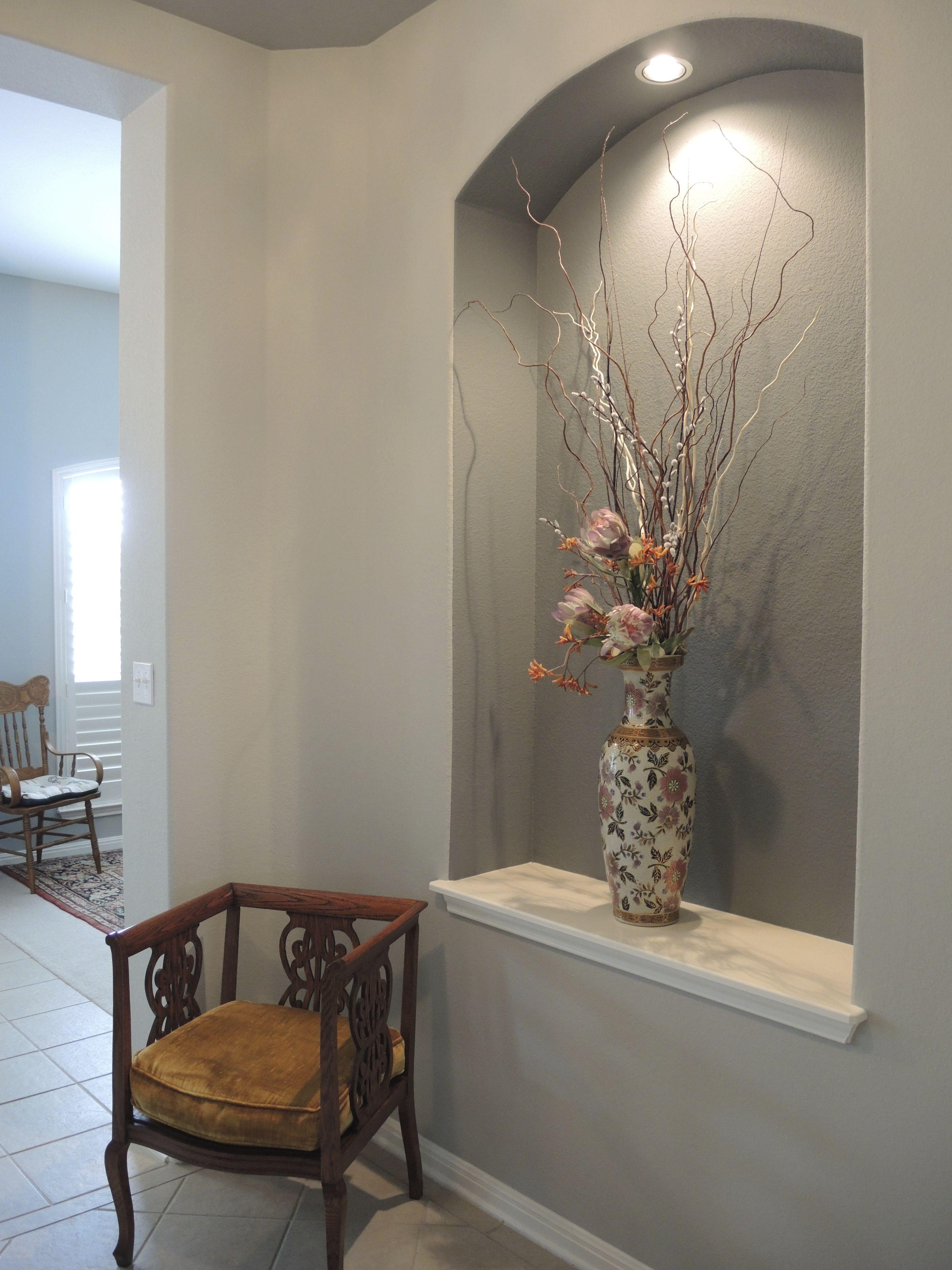 entire niche painted hall wall decor alcove decor on wall art decor id=98387