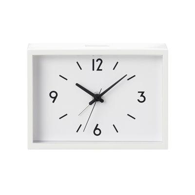 アナログ目覚まし時計 ホワイト/型番:SAC‐53 コンビニ受取可