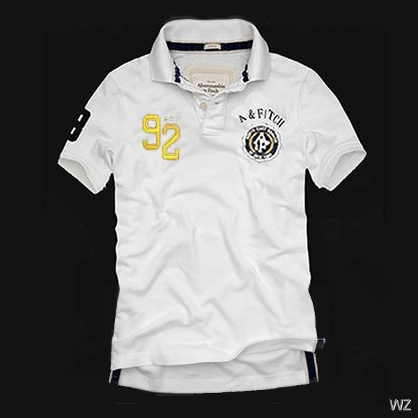 b5ab29ad Abercrombie Fitch a&f Mens 92 A&Fitch Polo T-shirts White | Dapper ...