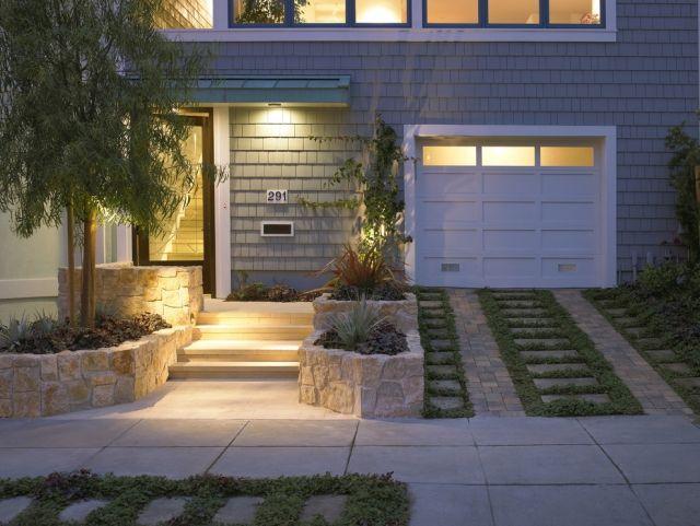 treppenbeleuchtung außen ideen eingang gras | | Der geheime Garten ...