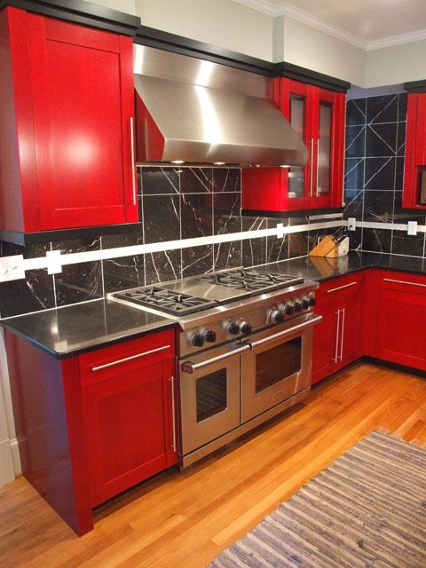 stainless steel wolf and sub zero appliances complement the bold colors of this contemporary on kitchen remodel sub zero id=72520