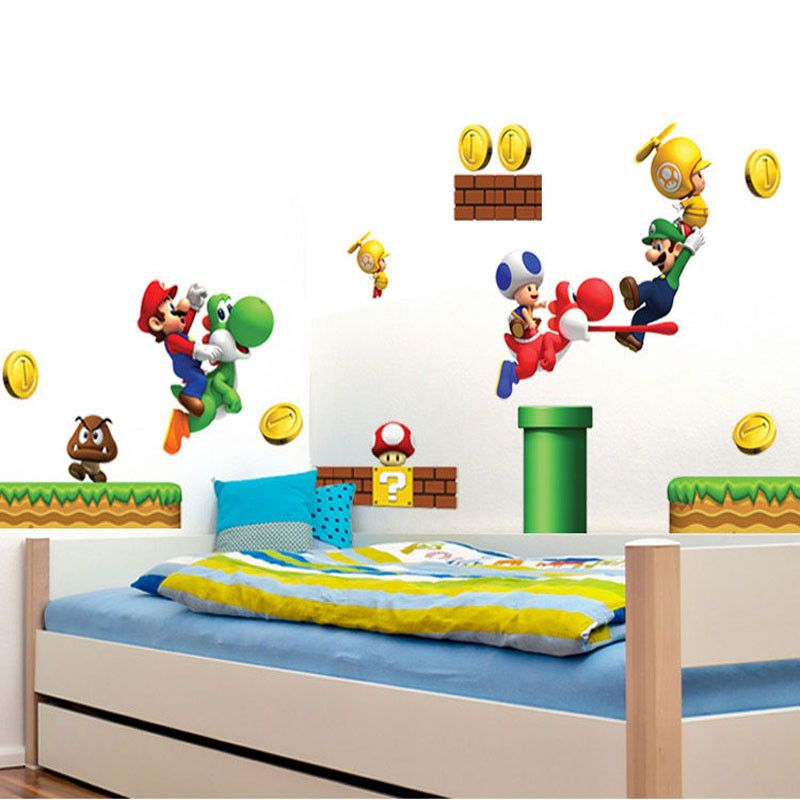 Super Mario Wall Stickers For Kids Rooms Dealeaz Kid