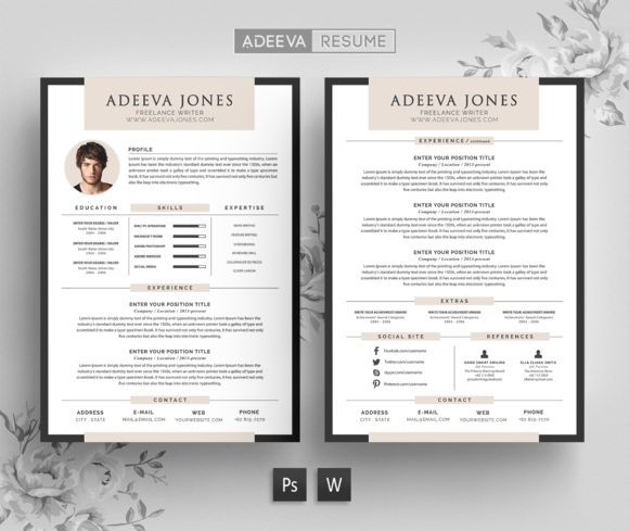 Nice professional resume template jones creativework247 fonts nice professional resume template jones creativework247 fonts graphics resume design templatedesign resumecv yelopaper Gallery