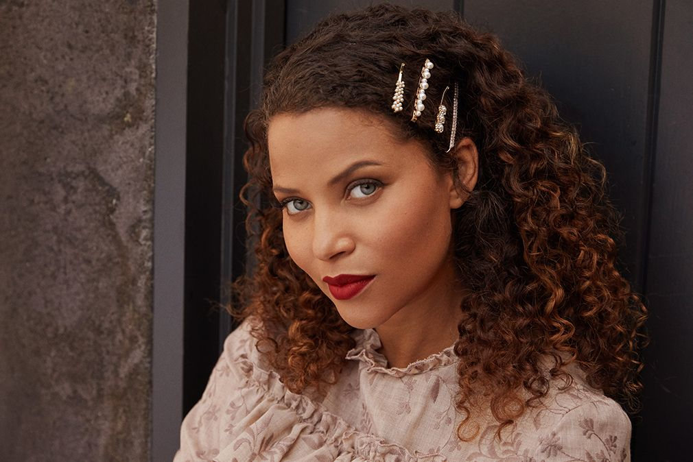 A Curly Girl S Guide To Rocking Barrettes Maed Curly Hair Styles Naturally Curly Hair Styles Natural Hair Styles
