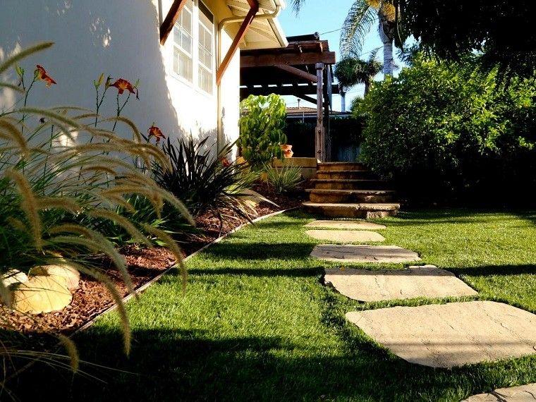 Jardines Con Piedras Y Cesped Cesped Artificial Instalado En Jard N Camino De Piedra Artificial Barato Instalado Junto A Camino De Piedra Jardin