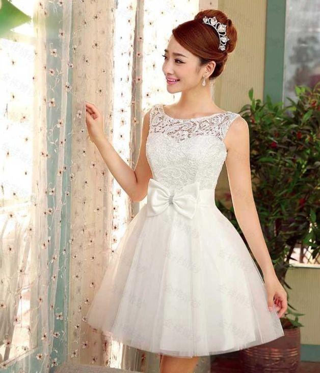 Vestidos Petticoat Corto Elegante Bordado Vestido De