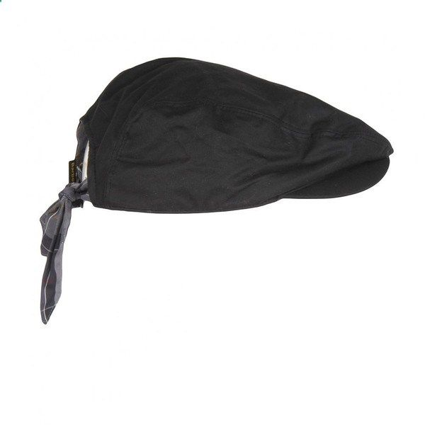 Barbour Womens Black Zara Wax Flat Cap  b55d9cf4da77