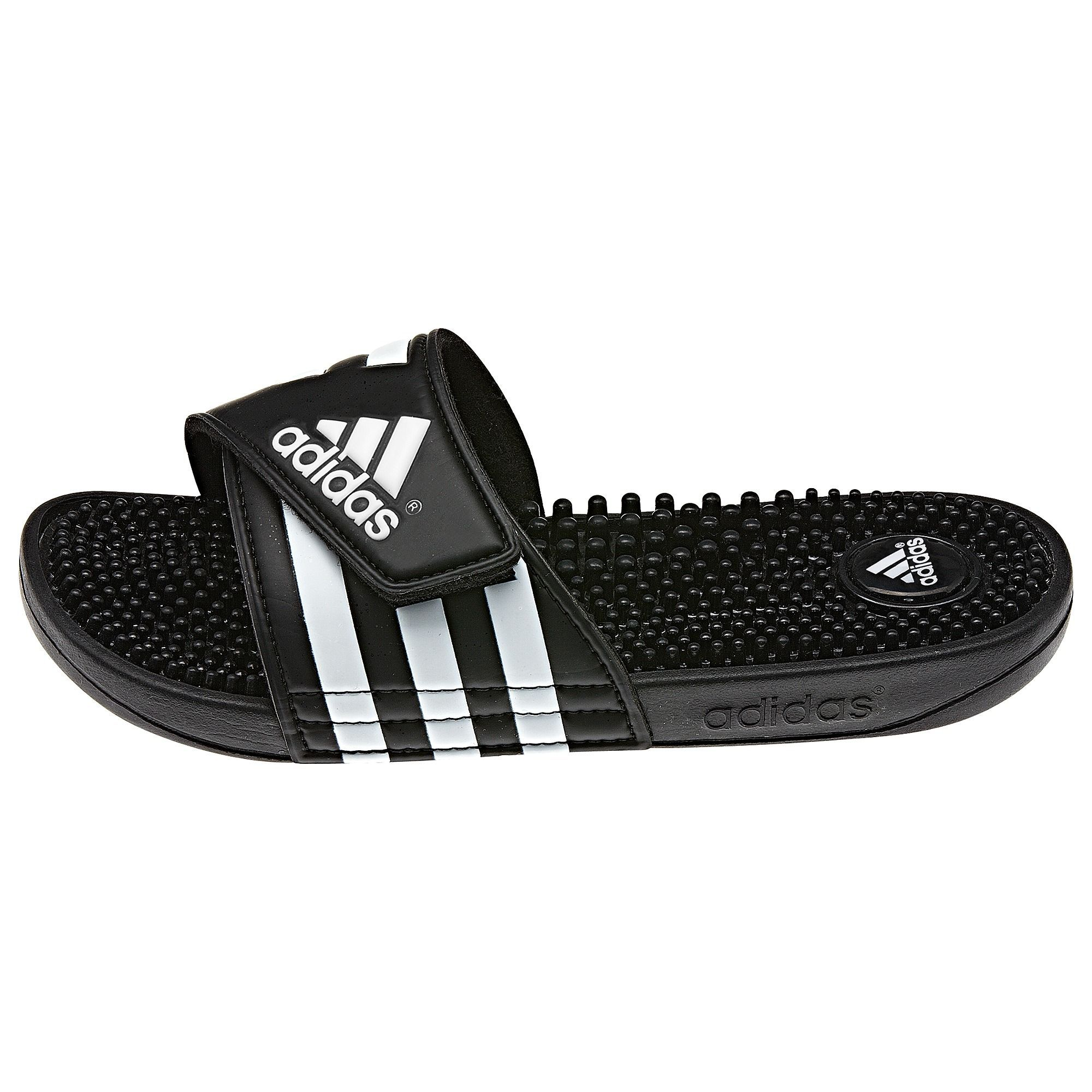 a9f1d66d131 Adidas Adissages in classic black   white. adidas - adissage Slides
