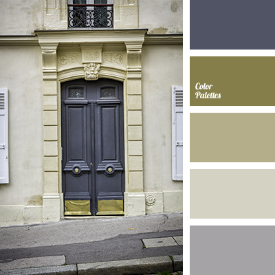 The combination of colours in this palette is classic and interesting. Dark, rich olive green colour is the basis of the composition and it combines harmon.