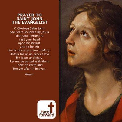 Prayer to Saint John the Evangelist - Face Forward | Face