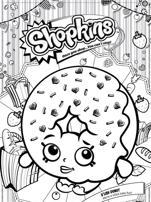 Top 10 Donut Coloring Pages For