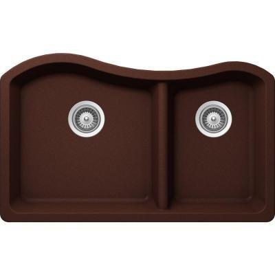 Buy here: http://thd.co/1NMxEyE SCHOCK ASHN175U009 ASH Series CRISTALITE 70/30 Undermount Double Bowl Kitchen Sink, Copper #kitchensink #kitchensinks #kitchen #sinks #schock #granitesink