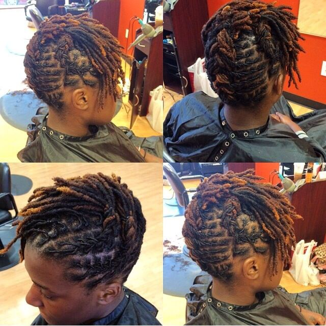 Short Locs Style Of The Week Short Locs Hairstyles Hair Styles Dreads Styles