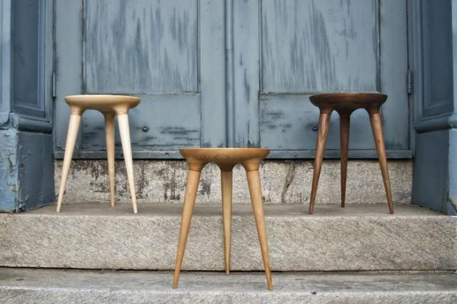 Great Wood Stools By Studio Dunn