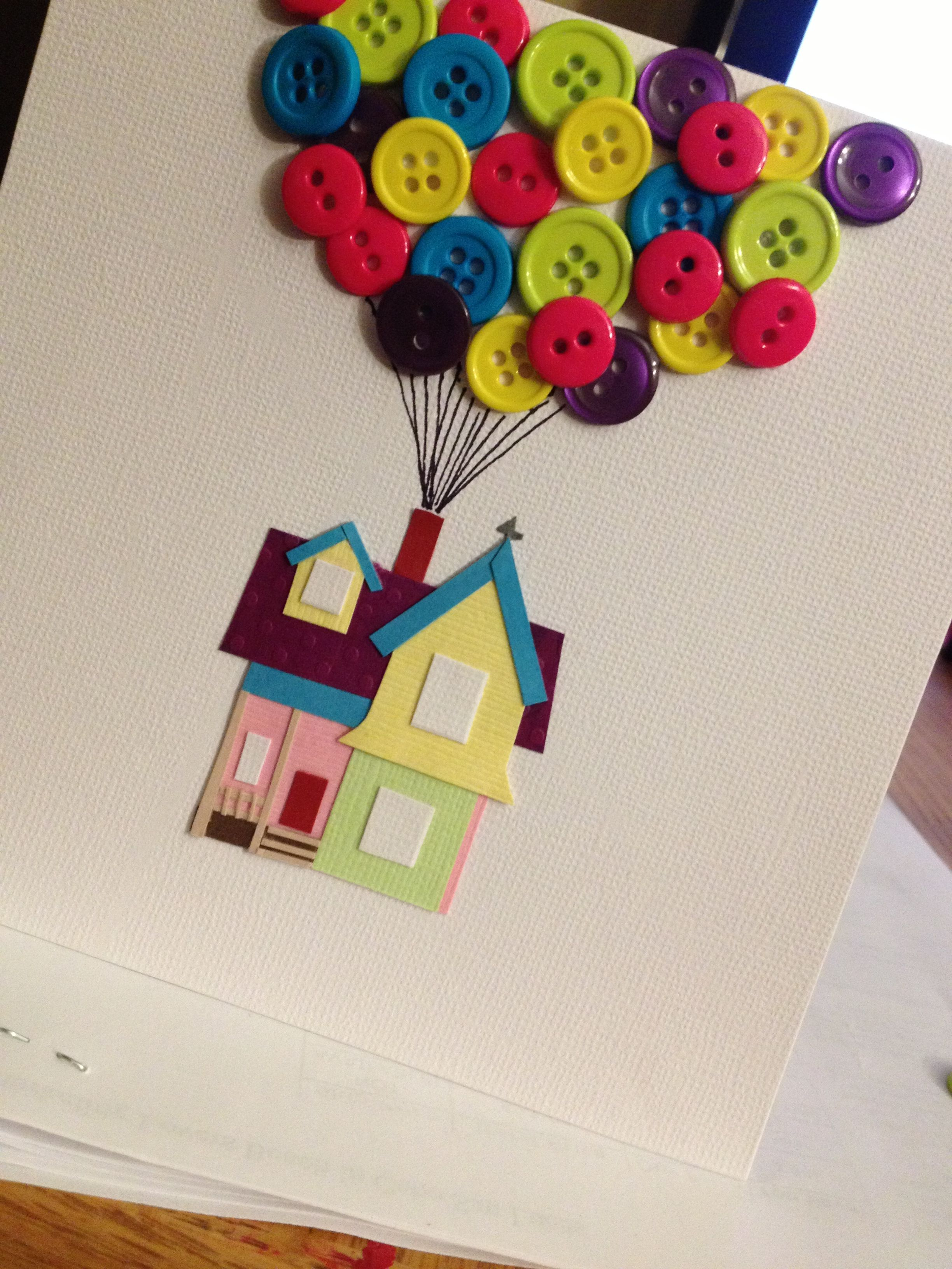UP themed wedding card I made for Kim & Fredo :) | Wedding Ideas ...