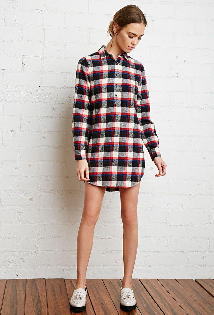 Flannel shirt outfit women  Plaid Shirt Dress  dresses  Pinterest  Plaid shirt dresses