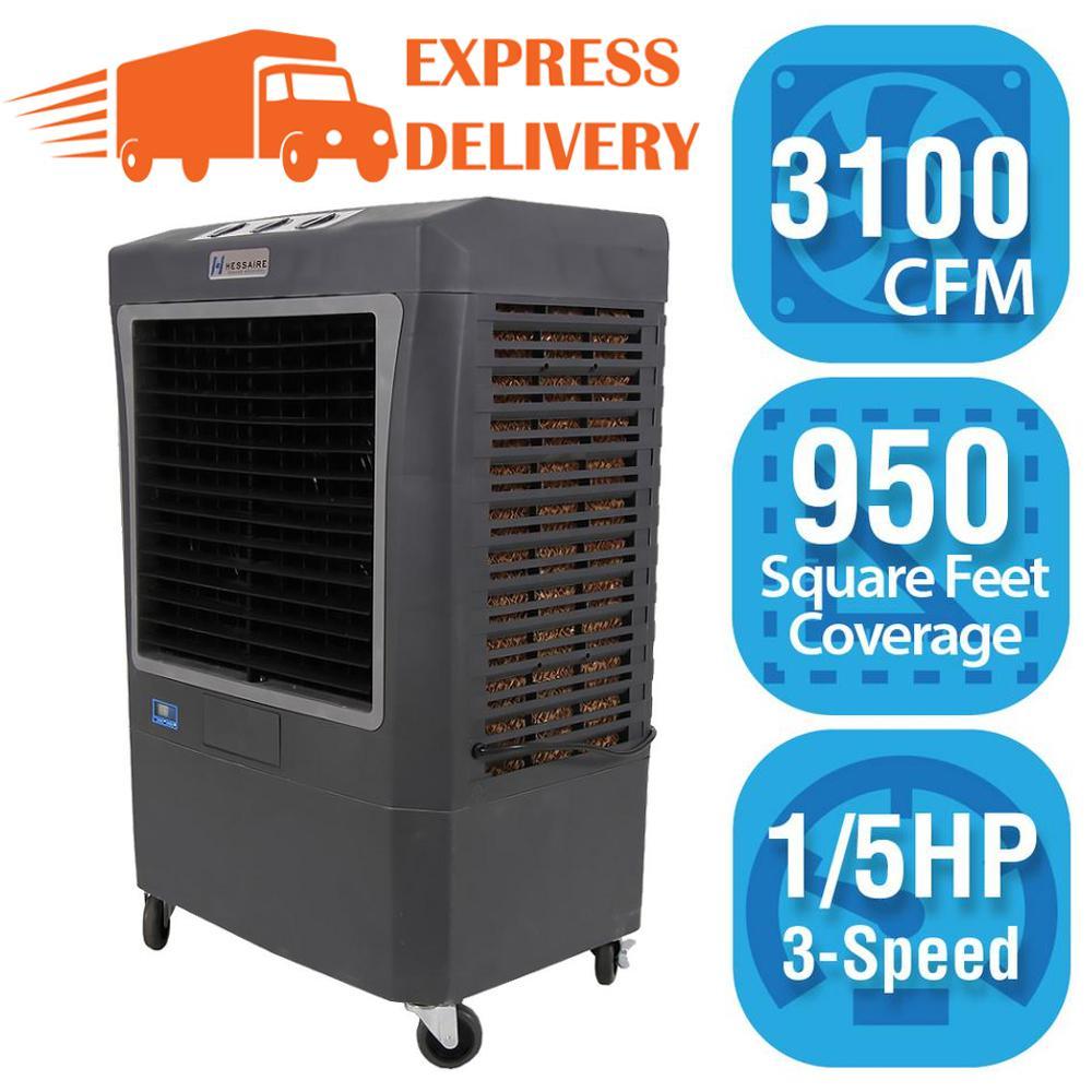 Hessaire 3 100 Cfm 3 Speed Portable Evaporative Cooler Swamp Cooler For 950 Sq Ft Mc37v Evaporative Cooler