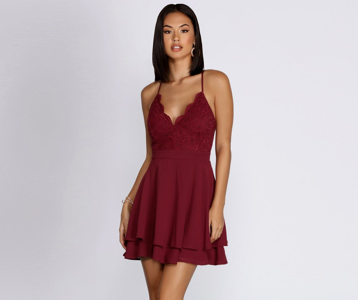 Never Too Much Chiffon Skater Dress In 2021 Dresses Skater Dress Short Maroon Dress [ 1005 x 1199 Pixel ]