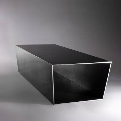 STEALTH SERIES COFFEE TABLE  Materials: Blackened hand-polished steel Dimensions: 54L x 20W x 16H  Options: Size / Custom
