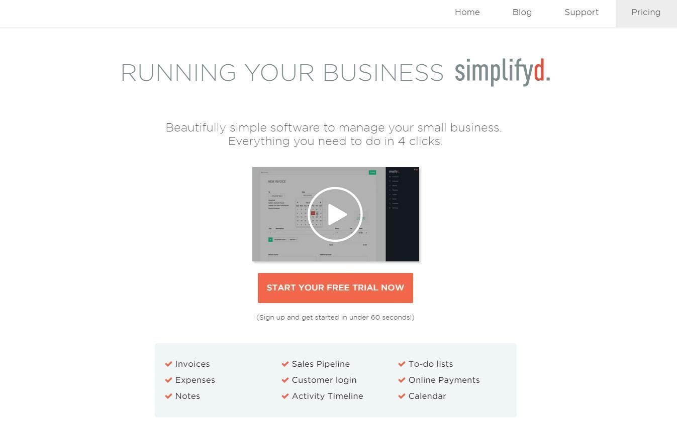 Simplifyd è un software per gestire il tuo business in 4 clic