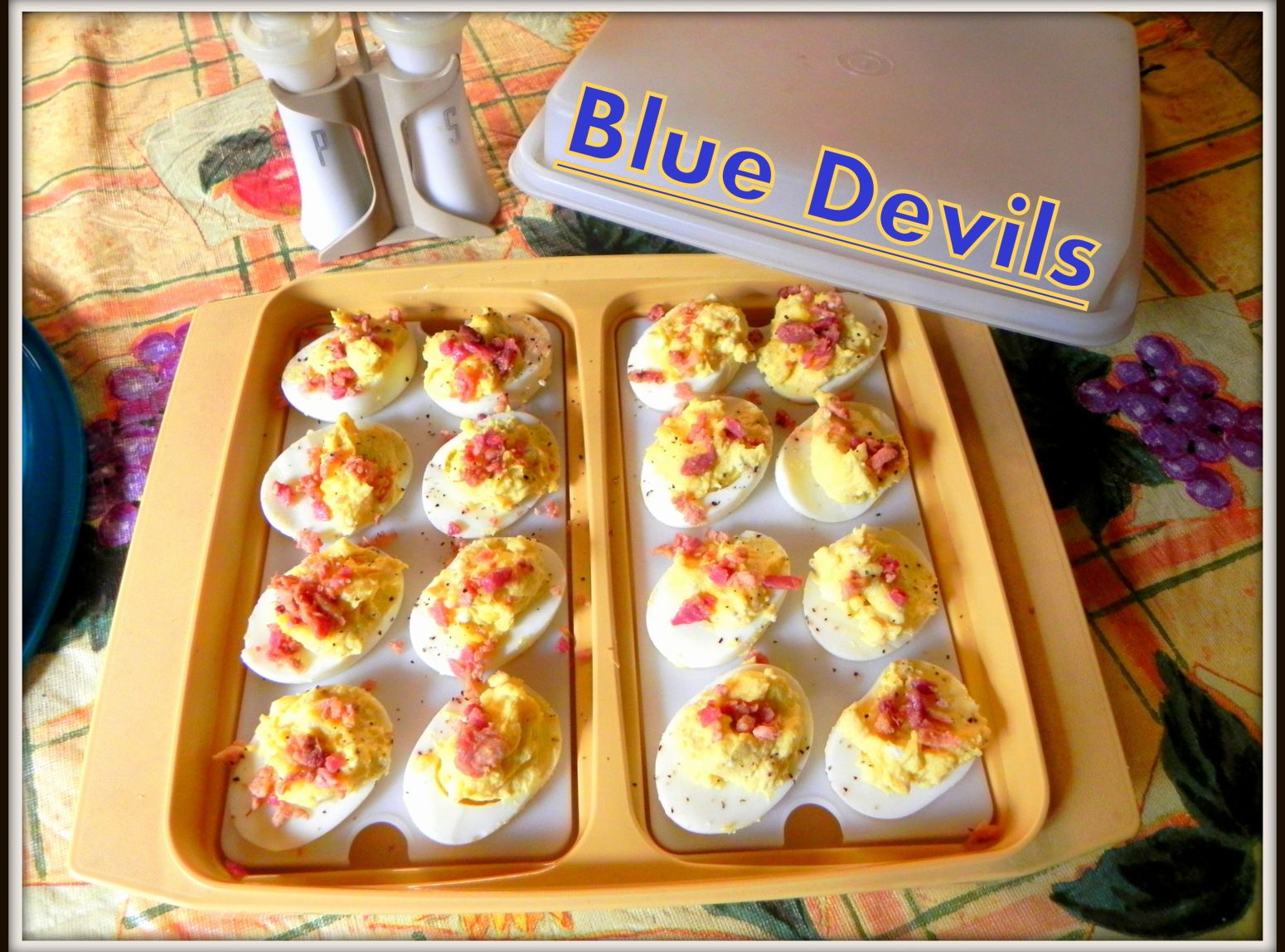 Check out blue devils deviled eggs its so easy to make blue blue devils deviled eggs recipe just a pinch recipes forumfinder Gallery